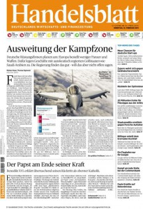 Titelseite Handelsblatt vom 11.02.2013