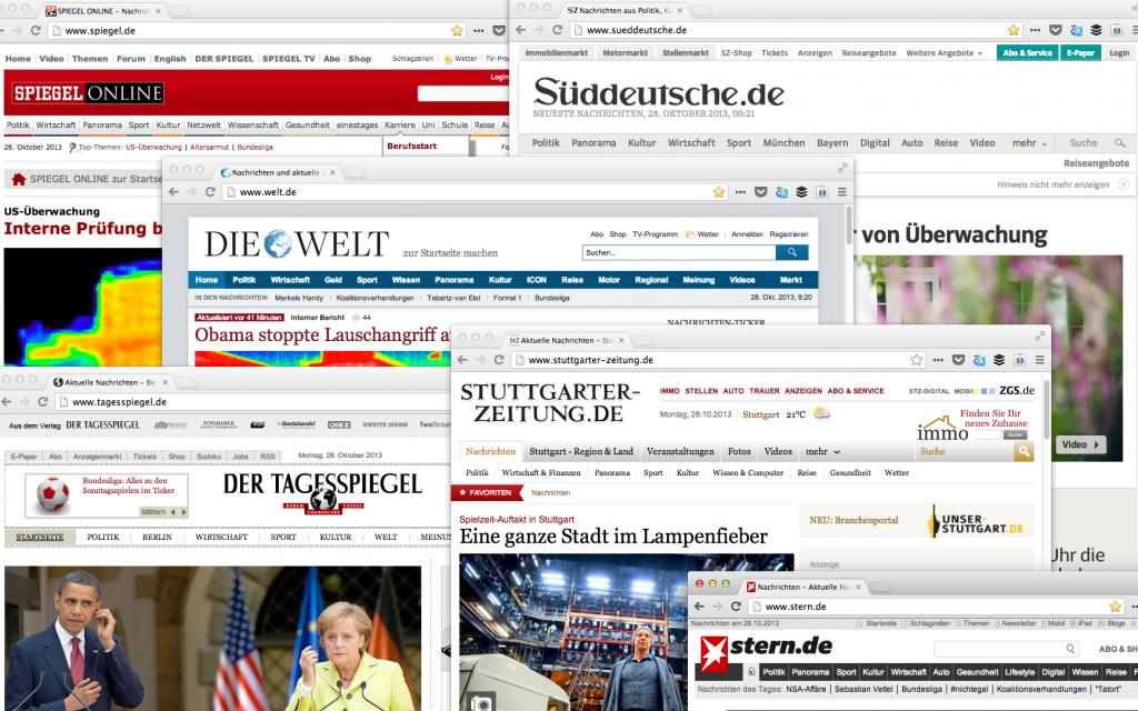 Bildnutzungsrechte - Webseiten Screenshot